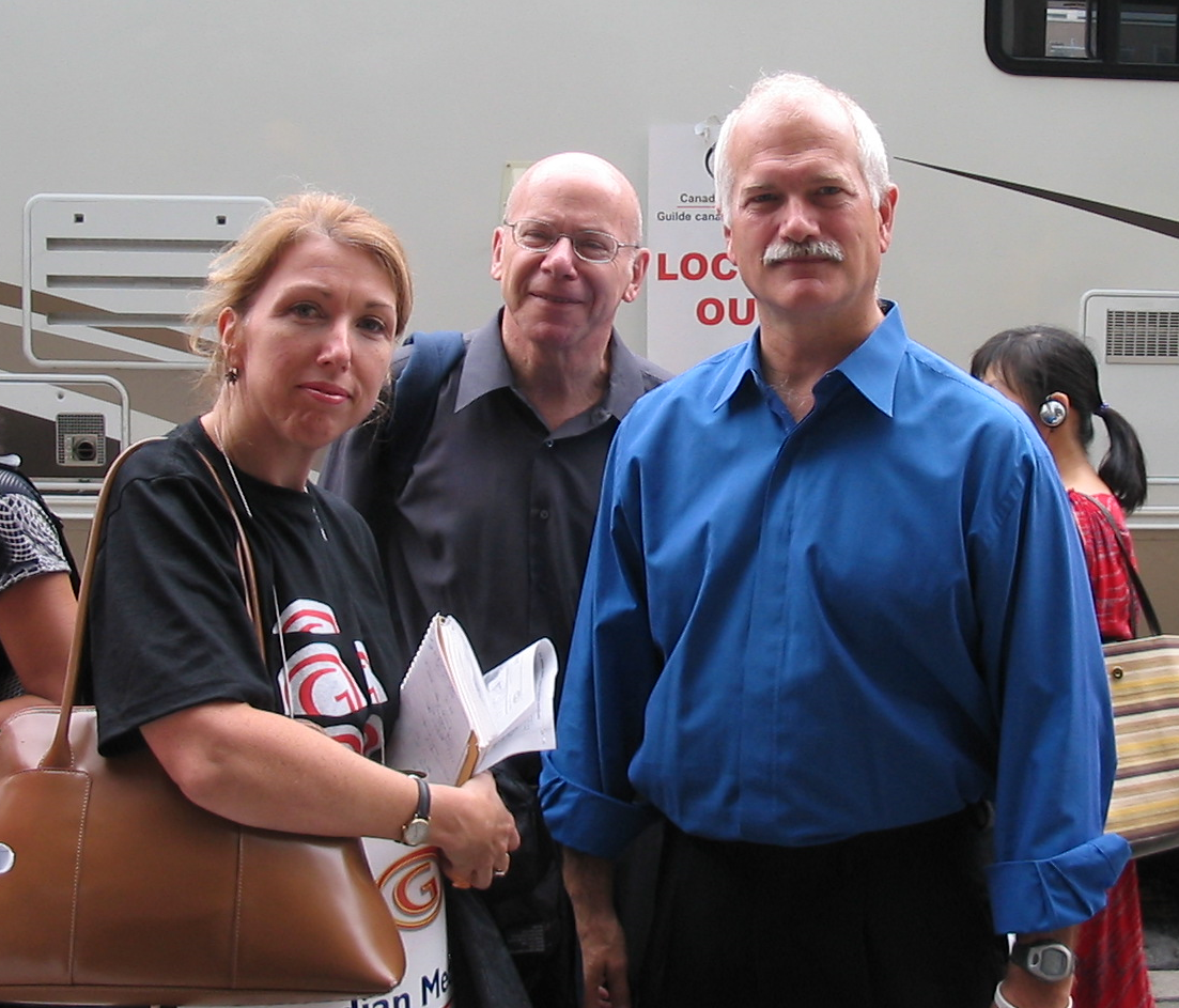 2005 Lockout - Lise Lareau, Arnold Amber, and Jack Layton (2)