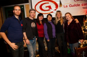 Some of the new members of the LEC at the Holiday Party: Tamar Kojman, Colman Jones, Anita Adams, Kam Rao, Kim Taylor-Galway, Naomi Robinson
