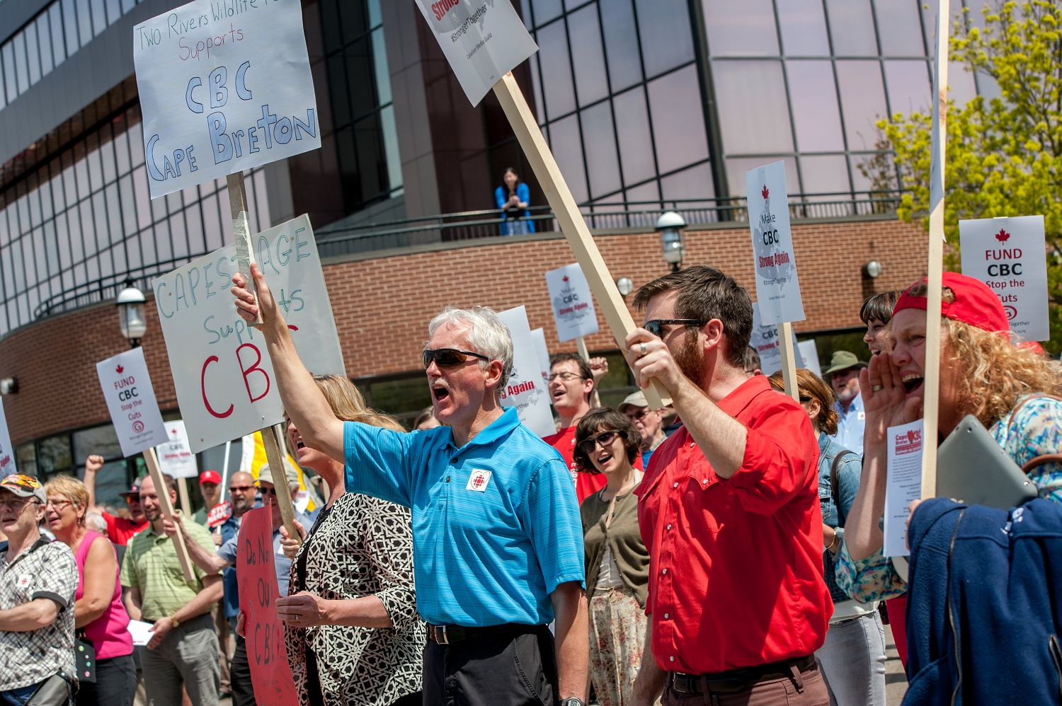 CMG rally for CBC, Cape Breton, June 2014, photo credit: http://www.coreykatzphotography.com/