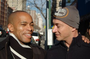CBC News reporter Ron Charles (left) and his husband Leroy Wall (right).