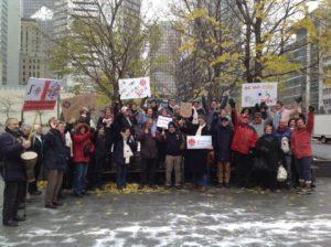 CBC Ottawa group at Montreal rally - nov 16